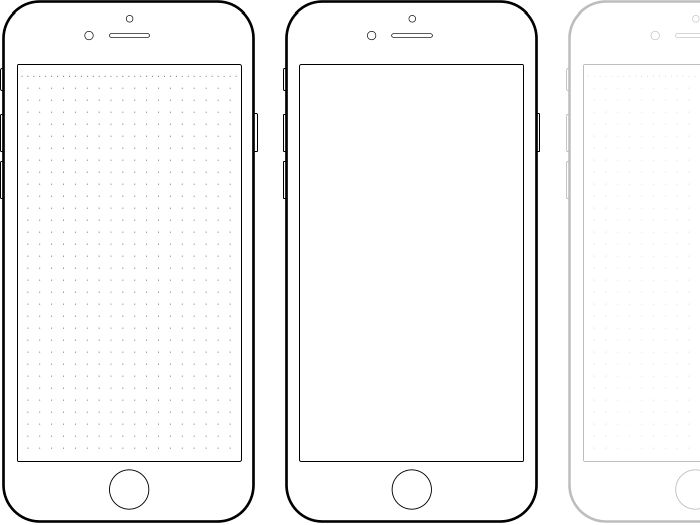 Картинки телефон для распечатки черно белые