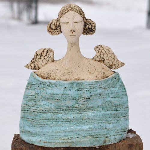 ANIOŁ MORSKI Dekoracja Wnętrz Ceramika JOANNA PIOTROWSKA