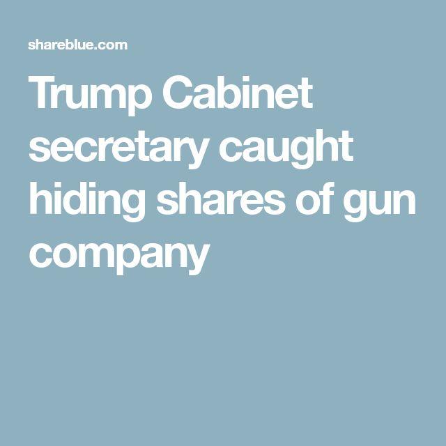 Trump Cabinet secretary caught hiding shares of gun company