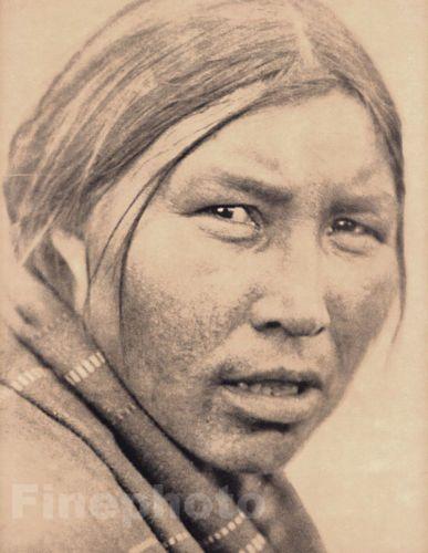 1900-72-Folio-impresion-Nativa-Americana-India-cree-Mujer-Retrato-Foto-Arte-Curtis