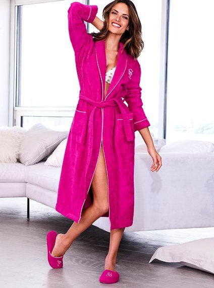Am I the only one who wishes I could permanently live in a giant pink plushy Victoria's Secret robe?
