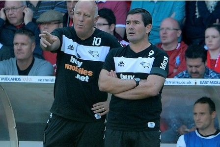 Derby County manager Nigel Clough's last match in charge, against Nottingham Forest, before he is sacked.