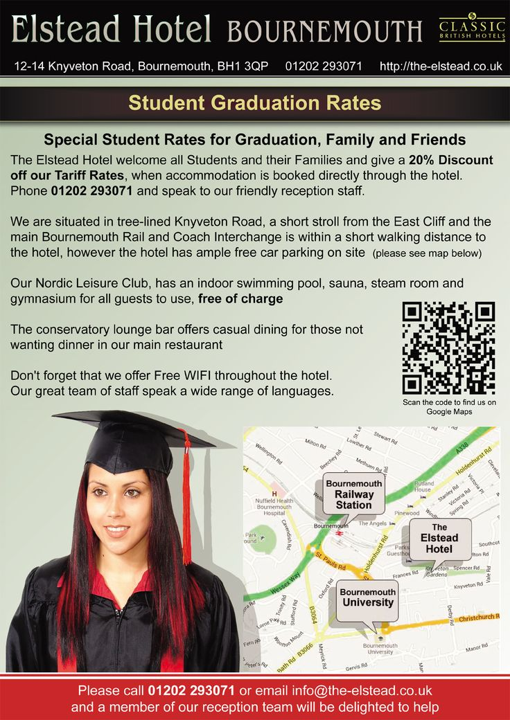 Student Graduation Rates The Elstead Hotel Bournemouth