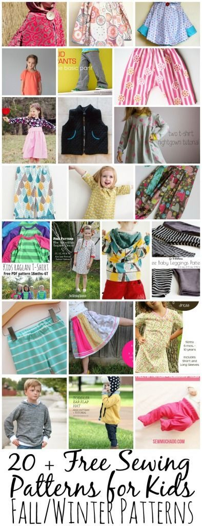 Free sewing Patterns for Kids on www.nap-timecreations.com #freesewingpatterns #sewingforkids