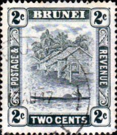 Brunei stamp 1924