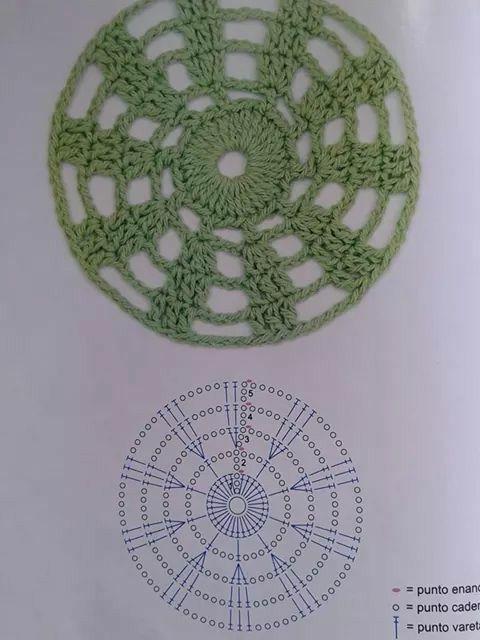 121 best CROCHET Motivos Circulares images on Pinterest | Crochet ...