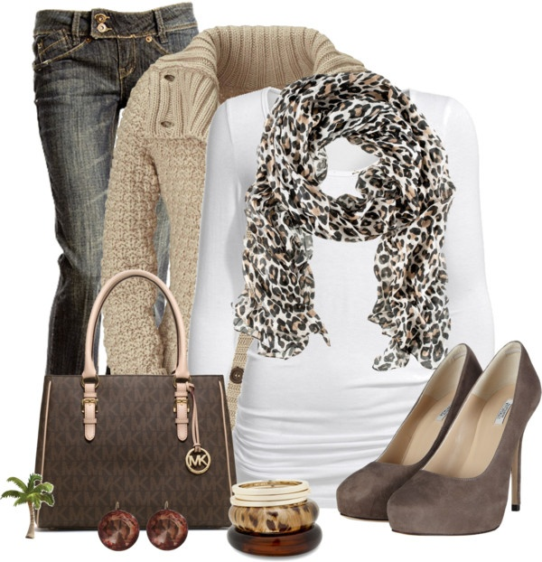 """""""Leopard Scraf"""" by cindycook10 ❤ liked on Polyvore"""