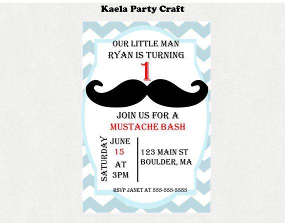 mustache birthday invitation #mustachebirthday #mustachebirthdayinvitation