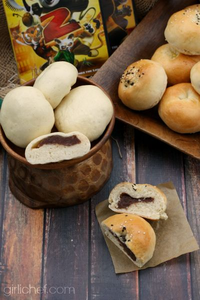 Sweet Bean Buns (2 ways) plus a Kung Fu Panda inspired roundup for Food 'n Flix from @Heather Creswell Schmitt-Gonzalez