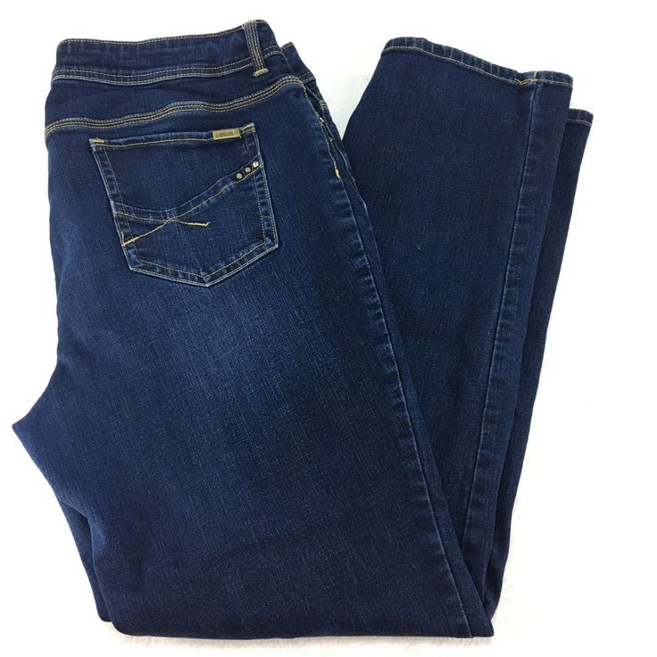 So Slimming by Chico's Denim Jeans Size 3 16 XL Regular #Chicos #StraightLeg