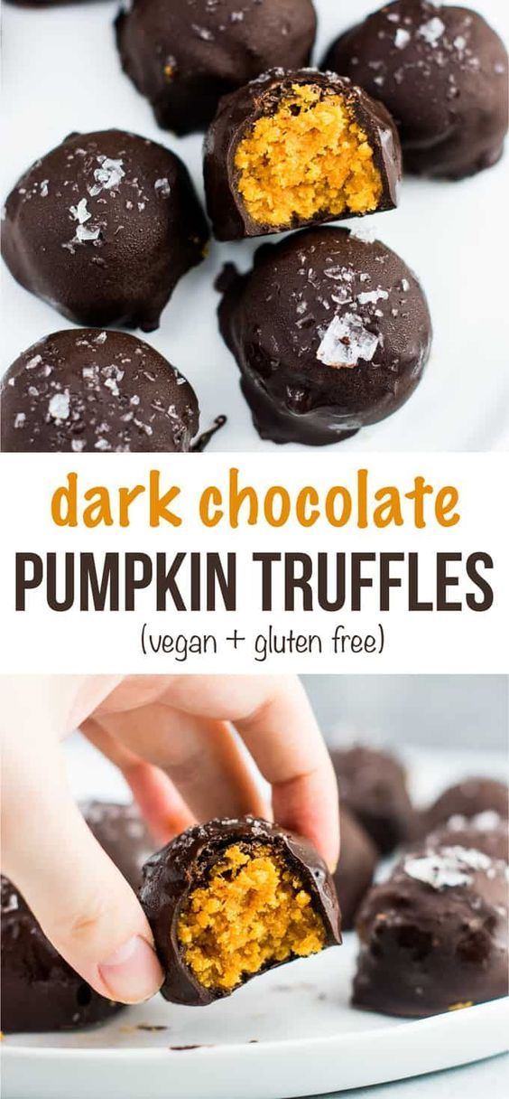 Dark Chocolate Pumpkin Truffles Recipe Vegan Gluten Free