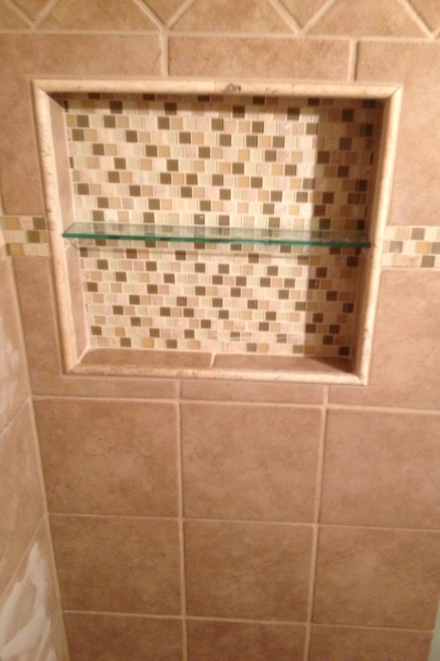 Recessed Built In Tiled Shower Shelf Mom 39 S Bath Reno
