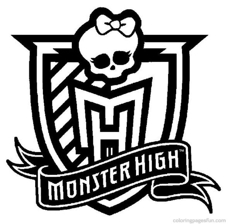 monster high monster high logo coloring pages free printable coloring pages coloringpagesfuncom