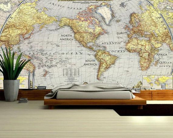 World Map MURAL, Wallapeper Nature, Nauture Mural, Self Adhesive Vinly Part 89