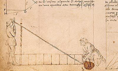 Francesco di Giorgio Martini (Siena 1439 - 1501), La praticha di gieometria, in Trattati di architettura, ingegneria e arte militare, manoscritto (sec. XV). Firenze, Biblioteca Medicea Laurenziana, Ashb. 361