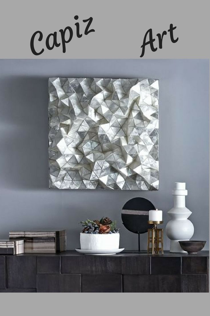 Capiz Faceted Wall Art Beautiful Hand Inlaid Shells Will Stand