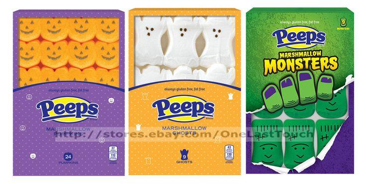 PEEPS^3.375oz Pack HALLOWEEN Marshmallow Candy GLUTEN FREE Ex 7/17+ *YOU CHOOSE* #Peeps