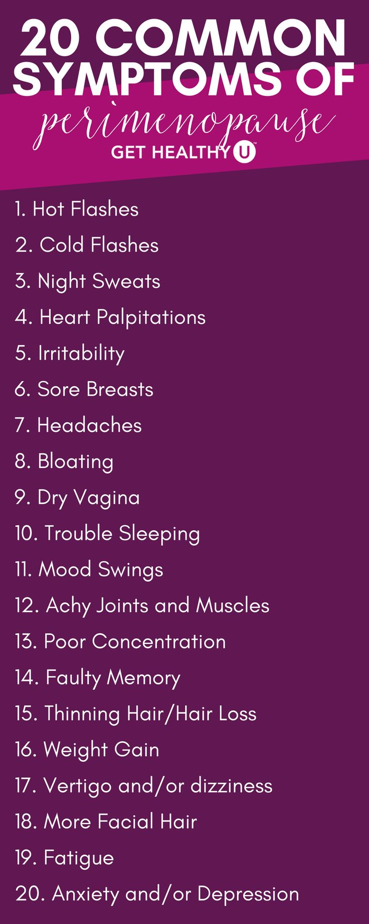 If you're in your 30s or 40s and have recently noticed mood swings, night sweats, and other strange symptoms cropping up, you might be a little confused. It's too early for menopause, isn't it? Could these symptoms be indicative of something else? Why on earth am I experiencing hot flashes and headaches out of nowhere at this age? If you've had these thoughts, you're not crazy. You might just be experiencing perimenopause.