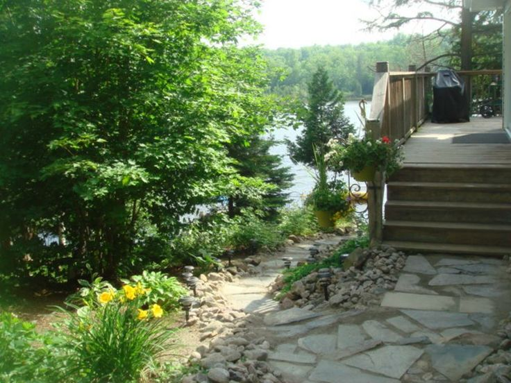 This cottage is located on peaceful Lake Cecebe with a forty mile clear waterway. You can stop at Magnetawan or Ahmic Harbour where you will find the things that you will need to continue your relaxing experience.  The lot is nicely landscaped and slightly elevated , down an easy path to the waterfront.  The waterfront is natural vegetation with a small sandy entry area, and the bottom is soft sand.  At about 10 feet, the water depth is 3 feet then it drops down.