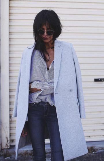 Pastel Blue Coat   Preloved Fashion ♥ Catchys
