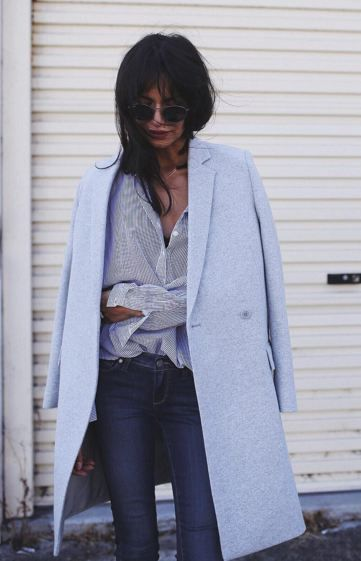 Pastel Blue Coat |Preloved Fashion ♥ Catchys