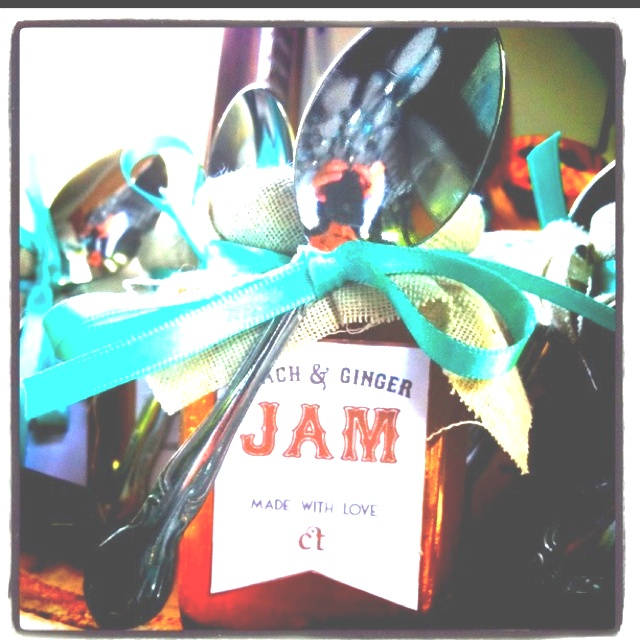 Wedding favors - homemade jam or jelly in mason jars with burlap & twine tide around the lid.  It's cute & practical & it wouldn't take a whole day if we got several people together.