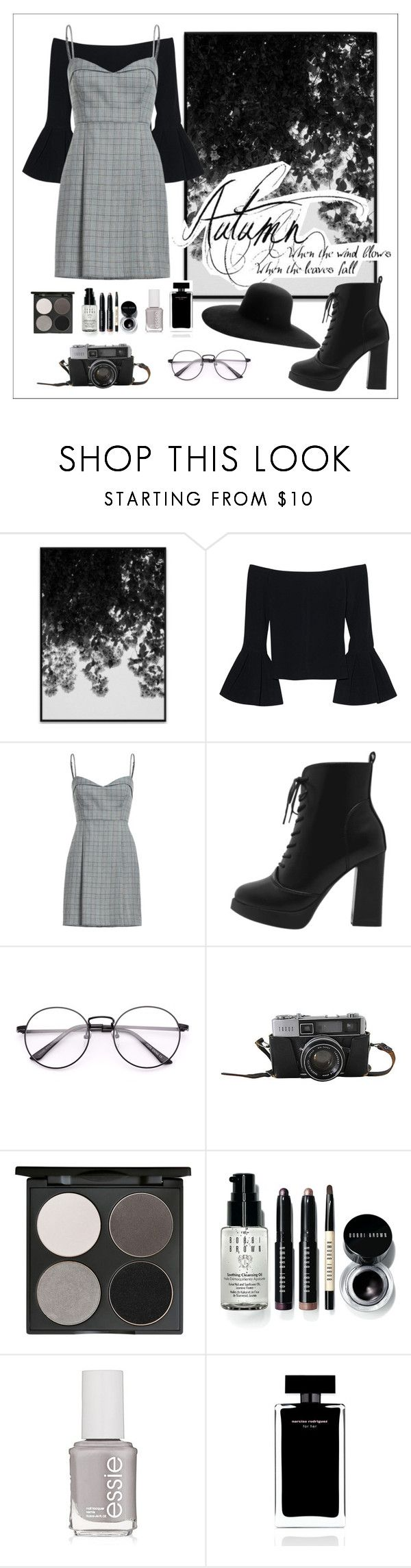 """""""Untitled #151"""" by fashiondesignlove ❤ liked on Polyvore featuring Alexis, Gorgeous Cosmetics, Bobbi Brown Cosmetics, Essie, Narciso Rodriguez and Maison Michel"""