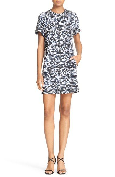 Just Cavalli Zebra Print T-Shirt Dress available at #Nordstrom