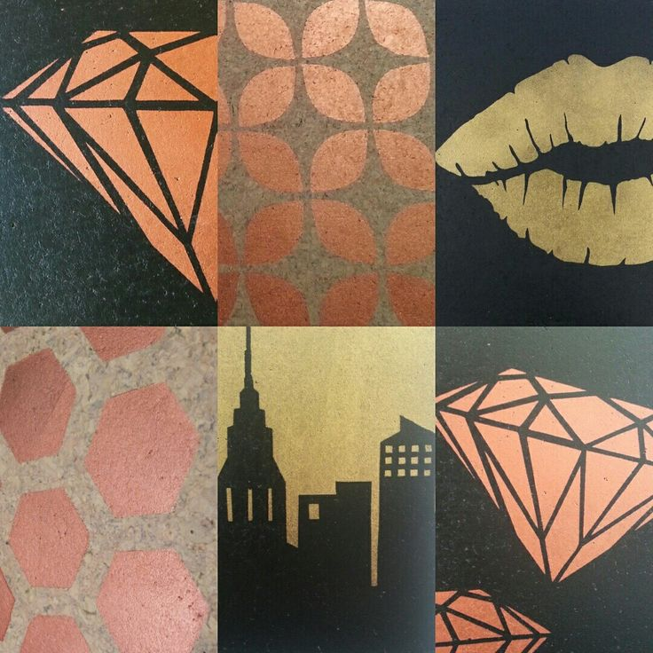 Cork pinboard designs in copper and gold