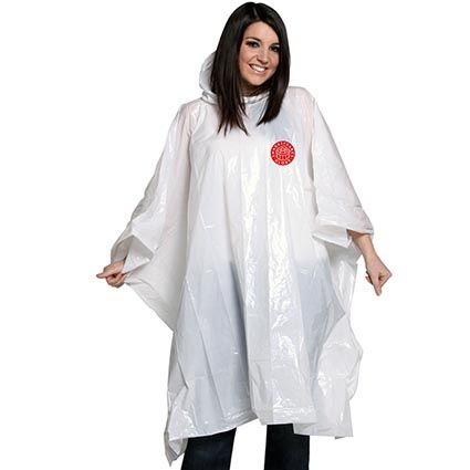 Disposable Rain Ponchos | Personalised Clothing | Promotional Merchandise