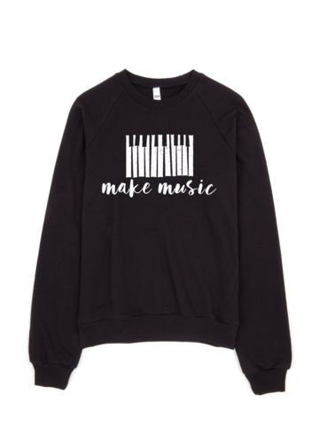 make music sweater | women's black sweatshirt - little cutees