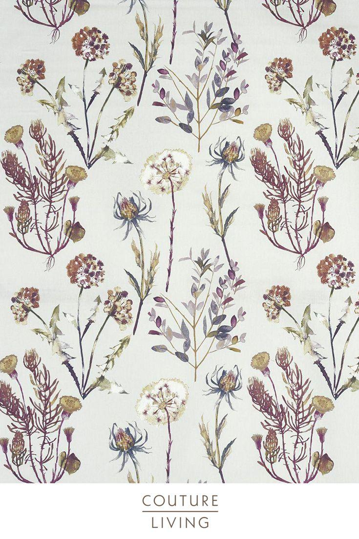 Allium Blossom Floral Curtain Fabric Floral Curtains Floral Fabric Prestigious Textiles