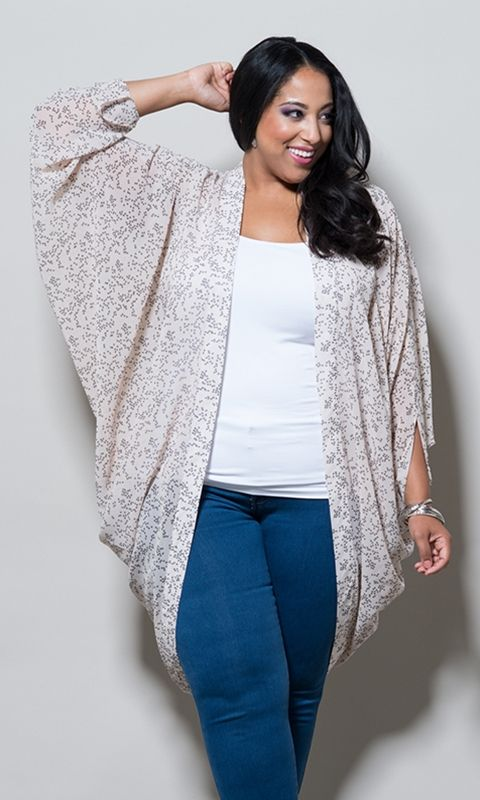 I...feel....like...i would love this...this...jacket thing. #plussize #kimono at Curvaliciow