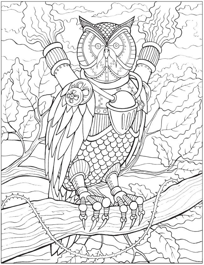 Steampunk animal coloring pages coloring pages Steampunk animals coloring book