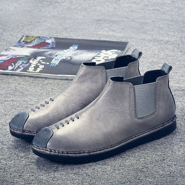 New Style Men Winter Casual Boots Sleeves Shoes - US$45.99