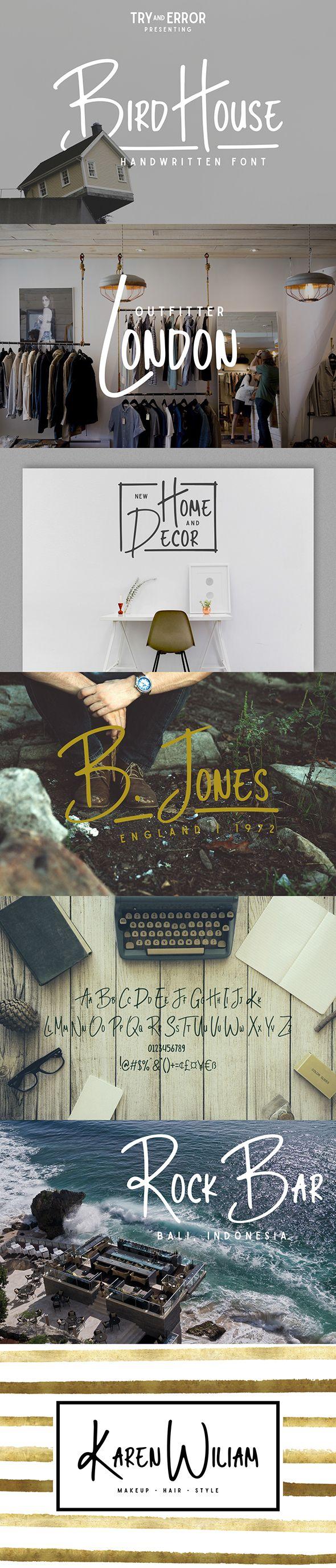 Bird House : Sans Serif Fonts
