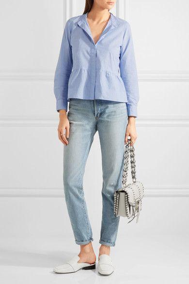 Madewell - Cotton Peplum Shirt - Sky blue - x small