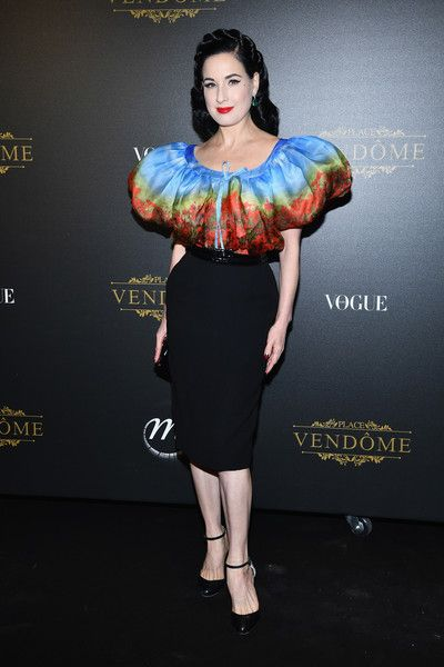 Dita Von Teese attends the Irving Penn Exhibition Private Viewing Hosted by Vogue as part of the Paris Fashion Week Womenswear Spring/Summer 2018 on October 1, 2017 in Paris, France.