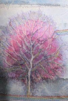 white on white fibre art and stitchery - Google Search