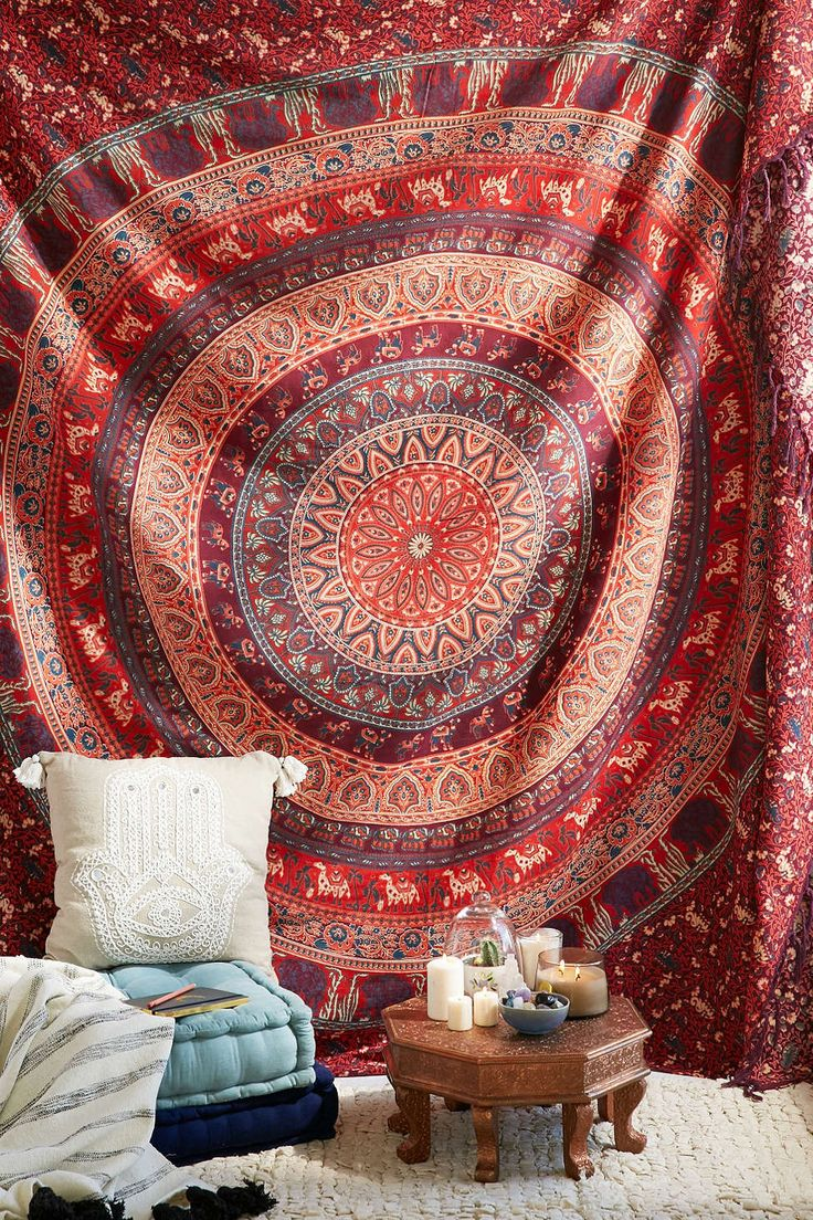 Urban outfitters bedroom tapestry - Magical Thinking Menagerie Medallion Tapestry Tapestry Bedroom