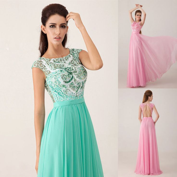 Exquisite New Jewel Custom Size Formal Evening Gown Beaded Long Prom Dress 2014