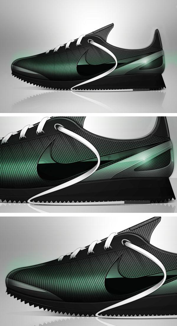Kendrick Lamar x Nike Cortez Concept - Black Beatle by Mr Bailey, via Behance
