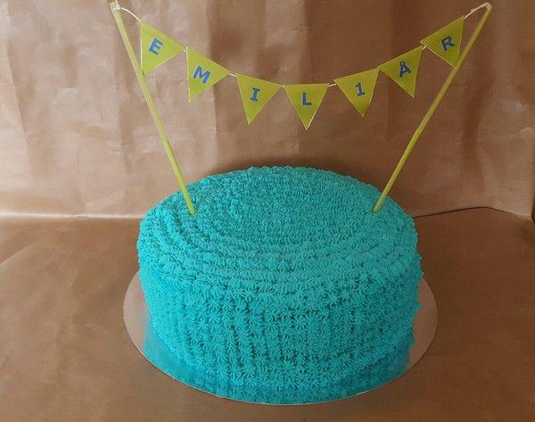 Faster Fixar ;) Var ju ett tag sedan jag gjorde denna tårta, men har liksom glömt att dela recept.  Emils 1års tårta   Tårtbotten 26 cm springform  7 st eco ägg Rumsvarma 4 dl…