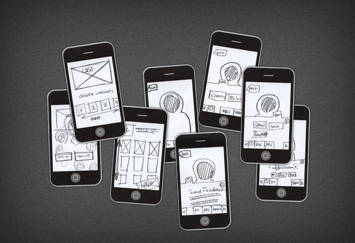 Mobile application mockup for research.
