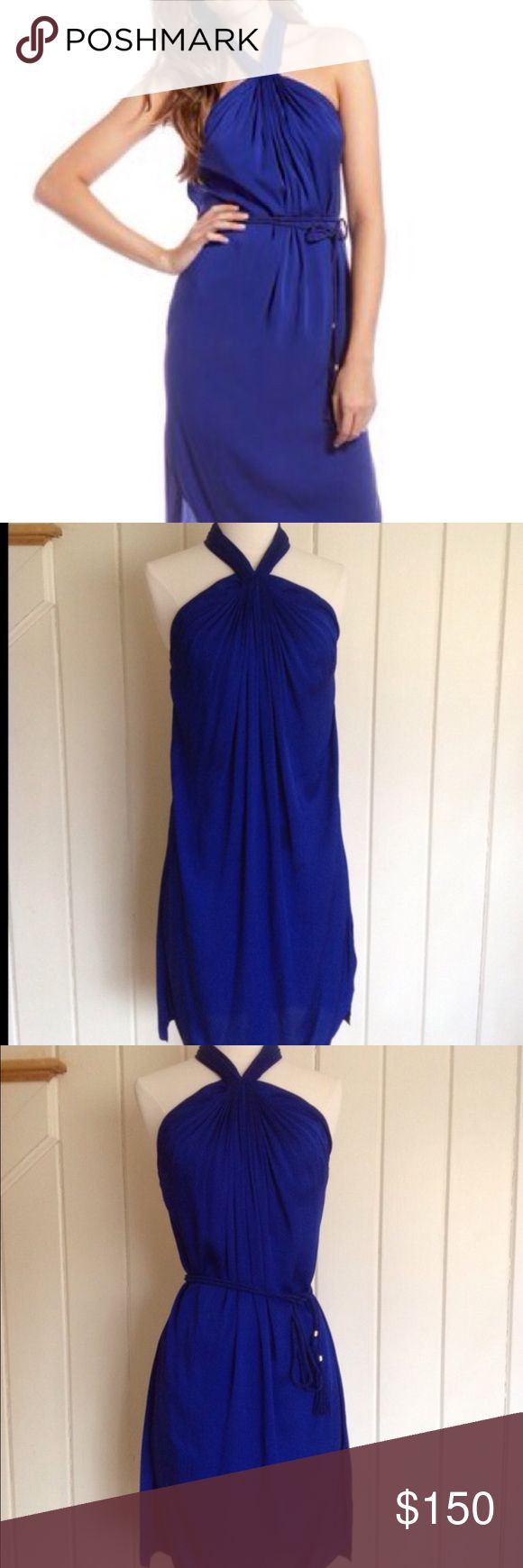 DVF silk Alyssa halter dress Absolutely stunning cobalt super soft 100% silk DVF dress. Can be word with or without the waist tie (which it comes with). Once again another dress I bought for an occasion but didn't wear. You might say I have a shopping problem but I just really like DVF 👗 Diane von Furstenberg Dresses Midi