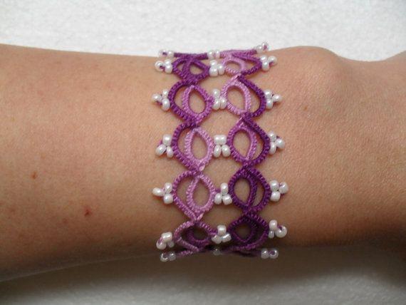 Tatting (Frivolite) Bracelet - Tatted Lace Bracelet