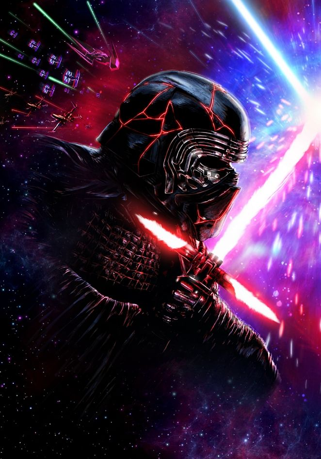 Final Battle Part 1 Kylo Ren Art Print By Justcallmeacar Limited Edition From 29 9 Curioos In 2020 Star Wars Background Star Wars Art Kylo Ren Art