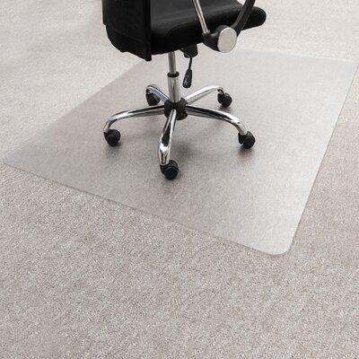 Floortex Low Pile Carpet Straight Rectangular Chair Mat Color