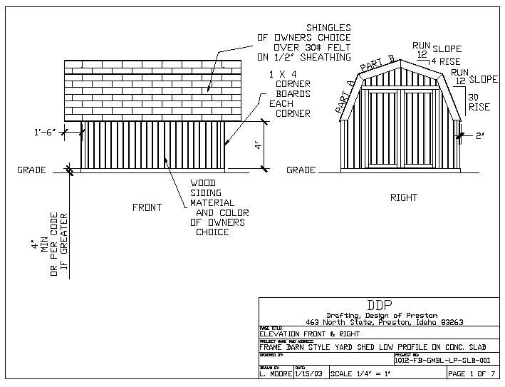 Free gambrel roof storage shed plans for Free cupola blueprints
