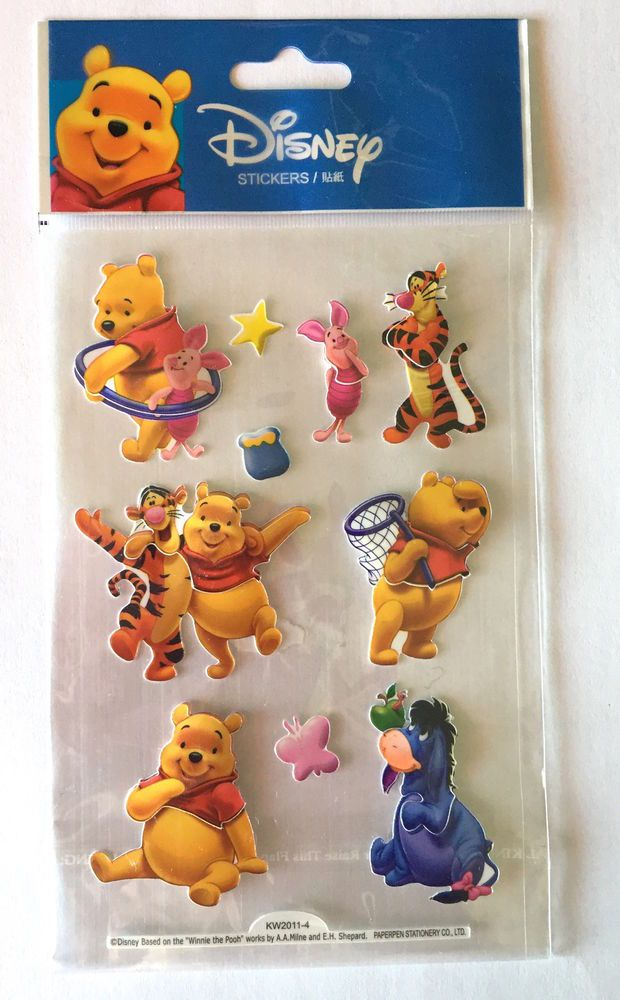 Winnie l Ourson Disney Stickers Autocollants Gommettes Enfants 3D